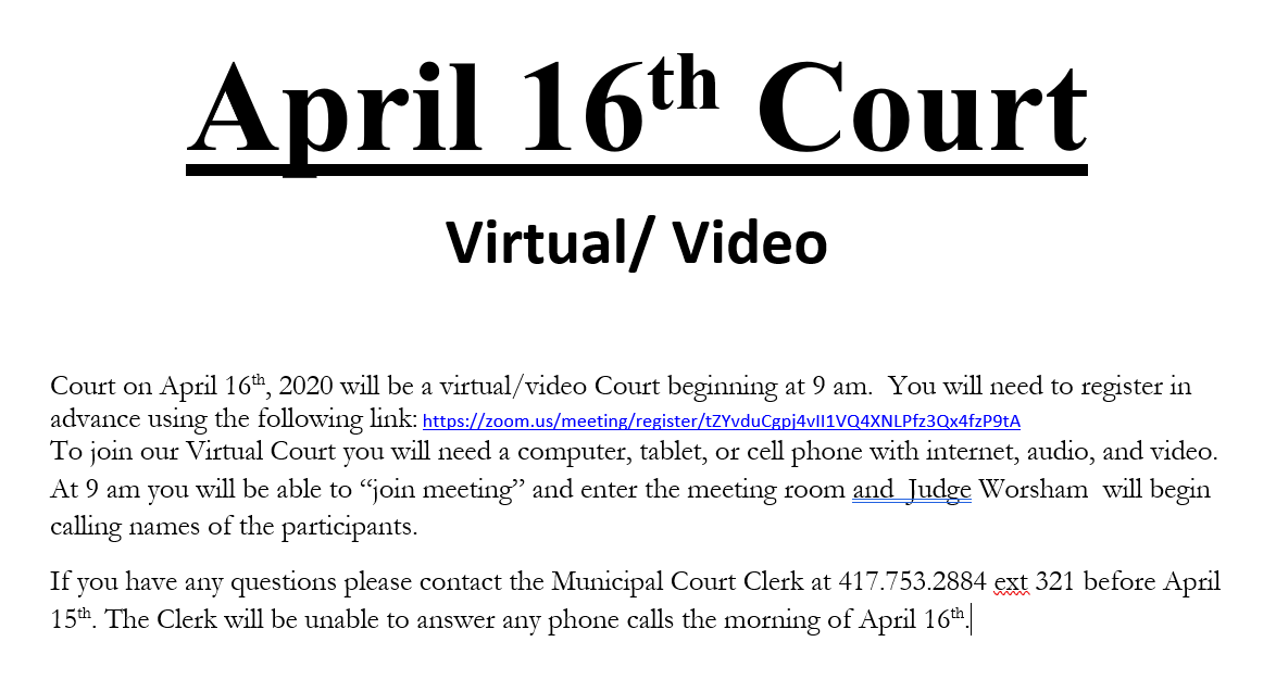 April 16th Court