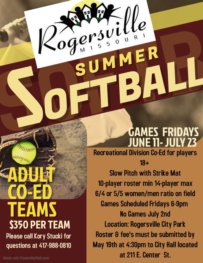 Summer Ball Adult Flyer