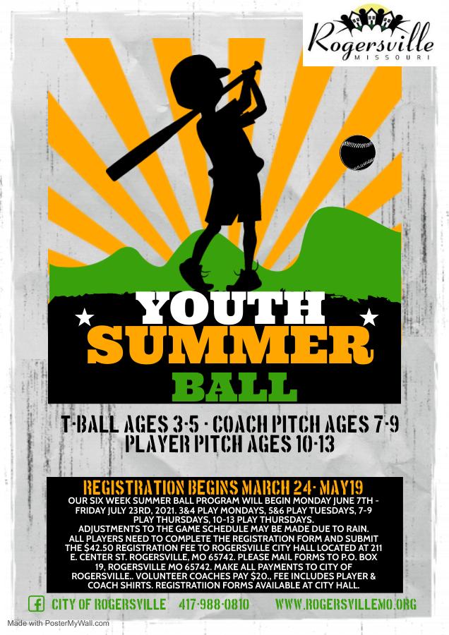 Youth Summer Ball Flyer